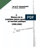 Rodolphe Prager, Les Congrès de la IVe Internationale. Tome 4. Menace de la troisième guerre mondiale et tournant politique, 1950-1952