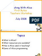 Teaching With Alice