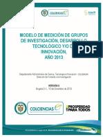DOCUMENTO Modelo de Medición Grupos 2013-VERSIÓN II Definitiva DIC 10 2013 _protected