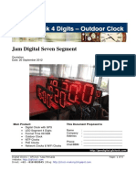 Catalog 4digits Digital Clock-Outdoor
