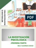 1. La Investigación Psicológica. Primera Parte
