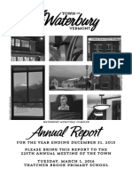 Waterbury Town Report 2015