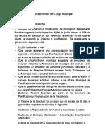 Procedimientos Del Código Municipal