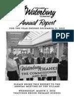 Waterbury Village Report 2015