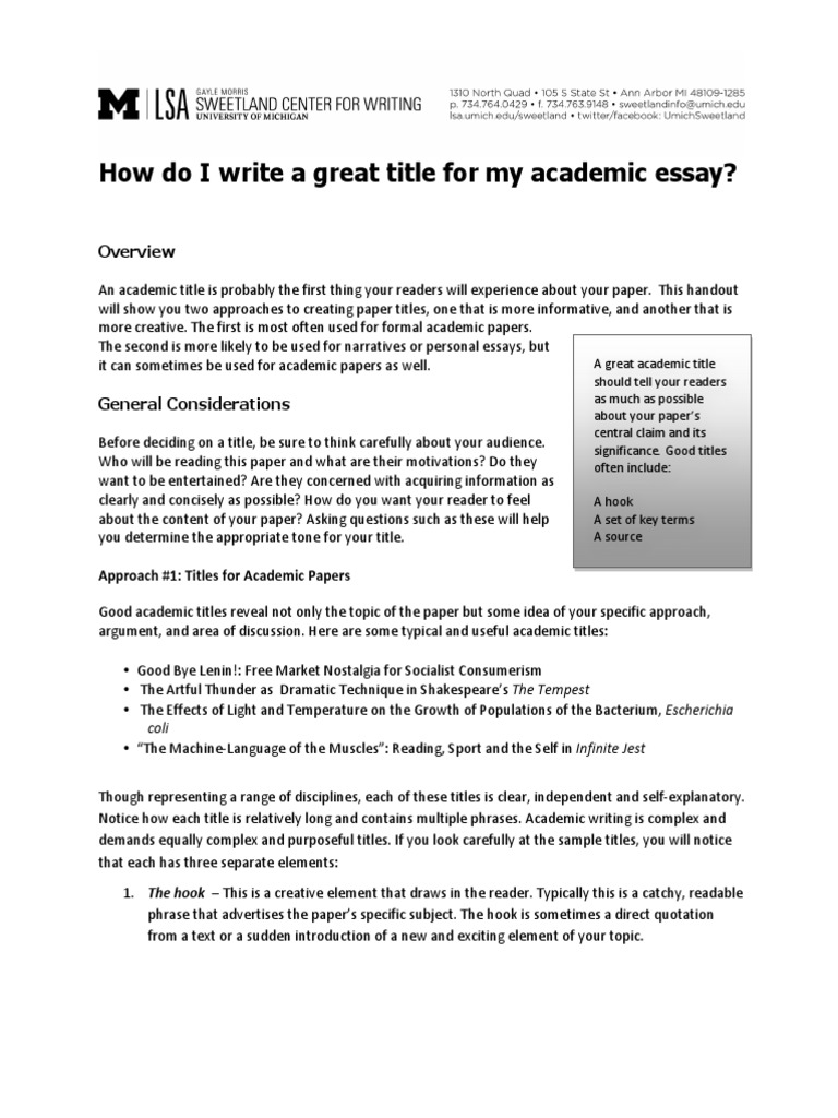 Do my admission essay title