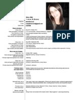 Curriculum Vitae Marija Mišić - English PDF1