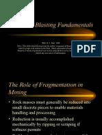 Blasting Fundamentals