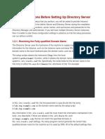 ldap considerations