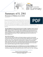 Summary of S2561, Protection of Children Act of 2016