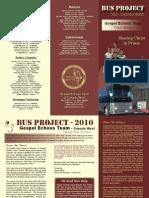 Bus Fund Brochure Gospel Echoes Team Canada West