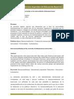 Internacionalización curricular en las universidades latinoamericanas