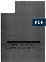 Chemical Properties and Derivatives of Glycerine