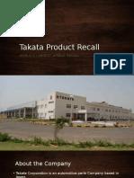 takata product recall