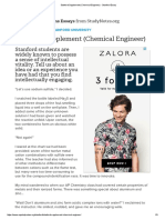 Stanford Supplement (Chemical Engineer) - Stanford Essay