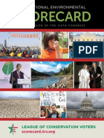 2015 National Environmental Scorecard, from the League of Conservation Voters