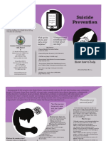 suicide prevention brochure copy