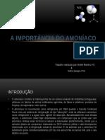 A Importância Do Amoníaco