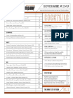 The Company Beverage Menu March 2016