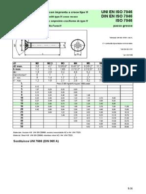 10/pezzi testa svasata M6/x 30/con impronta a croce H DIN 965/Acciaio Inox A2