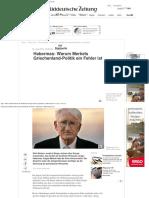 Habermas_ Merkels Griechenland-Politik Ist Ein Fehler