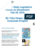 Statement from Toby Heaps, Corporate Knights, regarding the Fossil Fuel Divestment Act