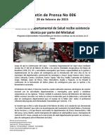 Boletín 006 Secretaría Departamental de Salud Recibe Asistencia Técnica Por Parte Del MinSalud