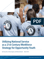 Utilizing National Service as a 21st Century Workforce Strategy for Opportunity Youth