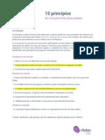 10 Princípios de Atuação Para Educadores - Clinton CTL