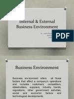 Internal & External Business Environment