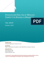 Stakeholder Analysis of Medicaid Competitive Bidding in Minnesota