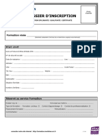 Dossier Inscription Formation Longue