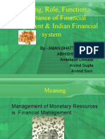Meaning, Role, Fumction, Importance Of Financial Management