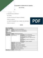 Ley Procedimientos Administrativos General
