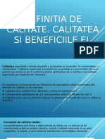 Definitia Calitatii.calitatea Si Beneficiile Ei.