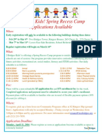 Two Bridges Spring Recess Flyer 2016