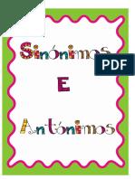 Unidade Sinónimos e Antónimos