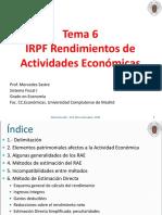 Tema 6-IRPF-Rendimientos de Actividades Económicas