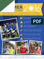 2016 Summer Explorations Catalog