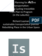 Best practice bicycle planning for the suburbs