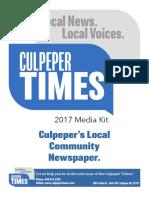 Culpeper Times Media Kit 2016-2017