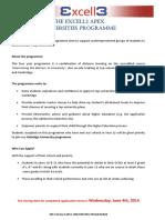 APEX Universities Programme 2014 Yr 10 11 Application