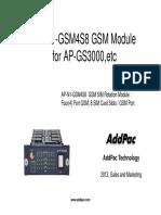 AP-N1-GSM4S8 GSM Module for AP-GS3000,etc