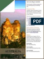 Australia Pre-Travel Guide