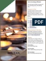 Bhutan Pre-Travel Guide