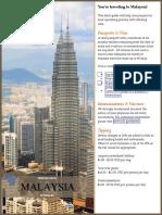 Malaysia Pre Travel Guide