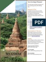 Myanmar Pre Travel Guide
