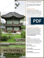 South Korea Pre Travel Guide