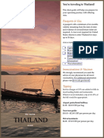 Thailand Pre Travel Guide