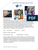 field observation edu 203