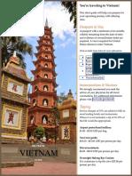 Vietnam Pre Travel Guide